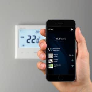 infrapanel vezérlés, infrafűtés termosztát
